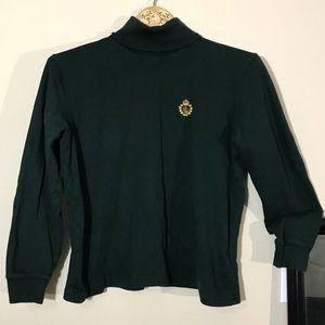 Green Label Crest Turtleneck Sweater top